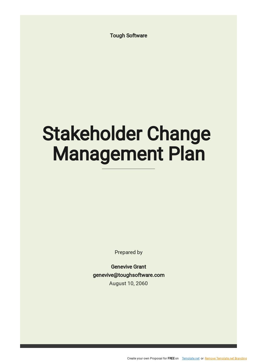 Stakeholder Change Management Plan Template .jpe