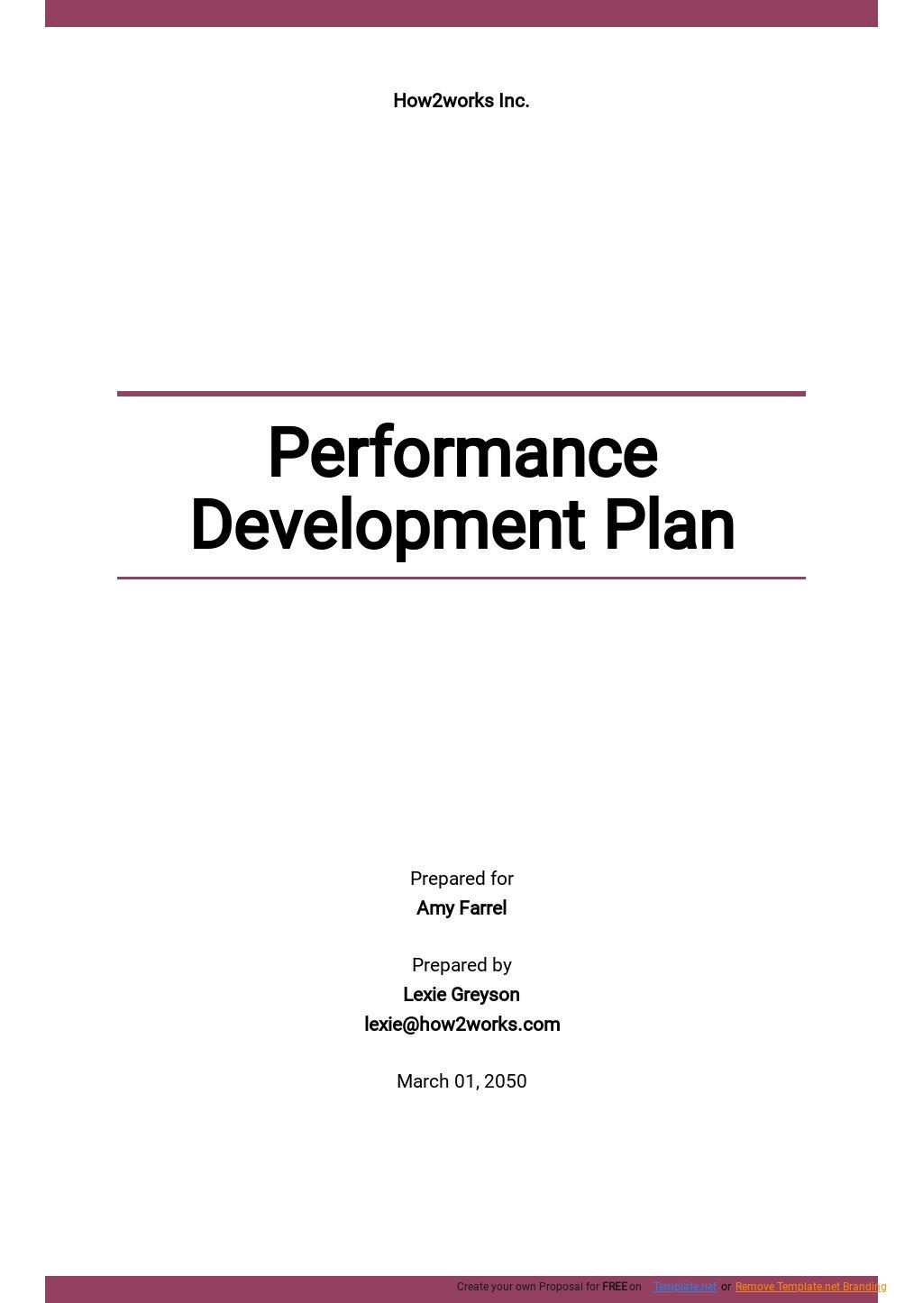 Sample Performance Development Plan Template.jpe