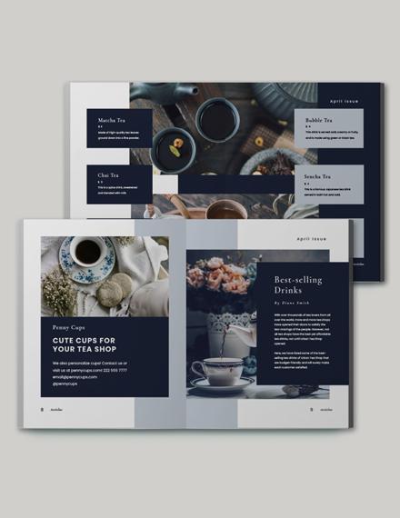 Editable Tea Store Catalog Template