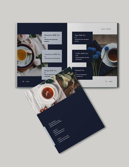 Tea Store Catalog Template Format