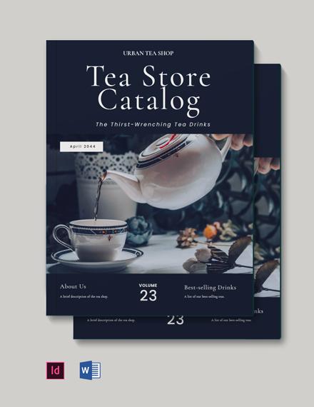 Tea Store Catalog Template