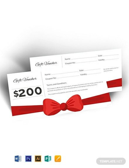 book voucher buy template gift
