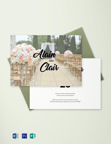 Free Stylish Wedding Invitation Card Template