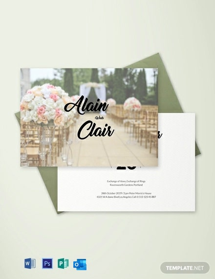Free Stylish Wedding Invitation Card Template