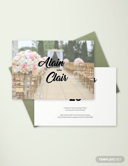 FREE Floral Wedding Place Card Template Download 128 Cards In PSD