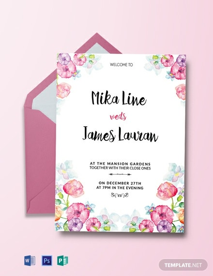graphic about Wedding Stationery Printable named 92+ Free of charge Marriage Invitation Templates - Phrase PSD