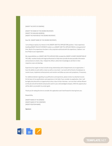 Free Solicited Application Letter Template