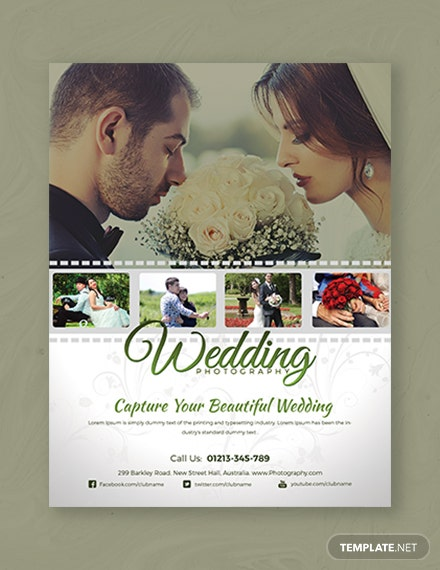wedding photography flyer 1x