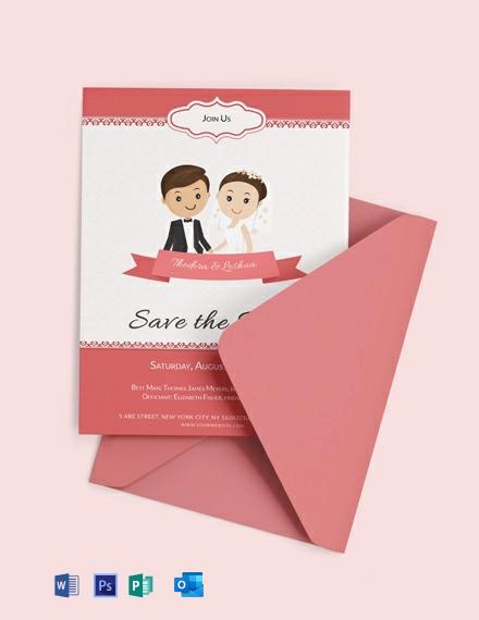 Free Unique Wedding Invitation Card Template