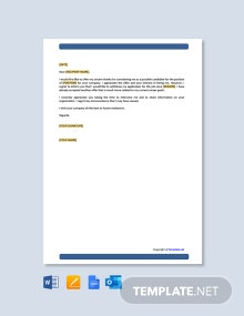 Free Application Withdraw Letter Template