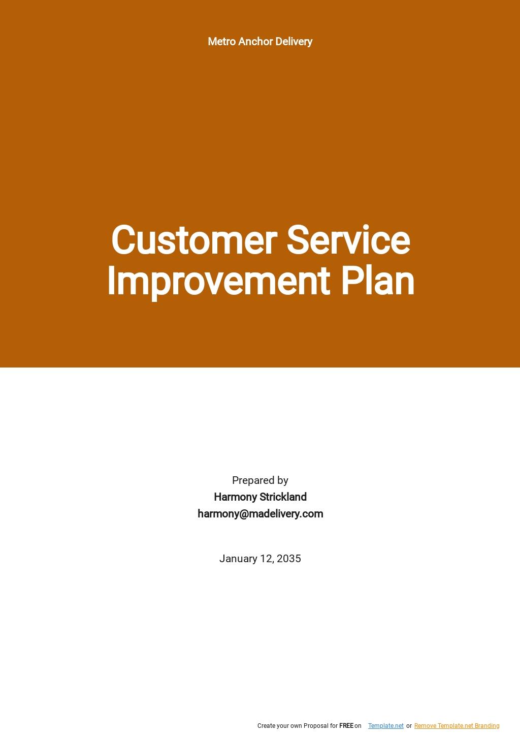 Customer Service Improvement Plan Template.jpe