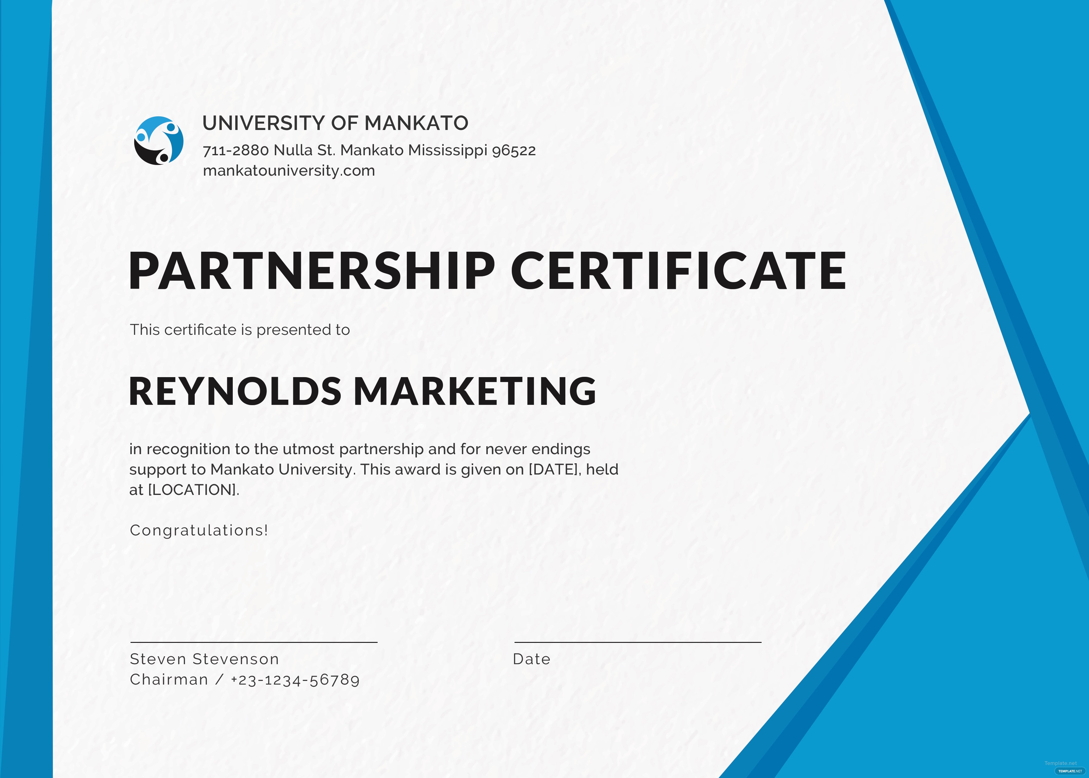 Free business certificate design template in psd ms word for Certificate of organization template