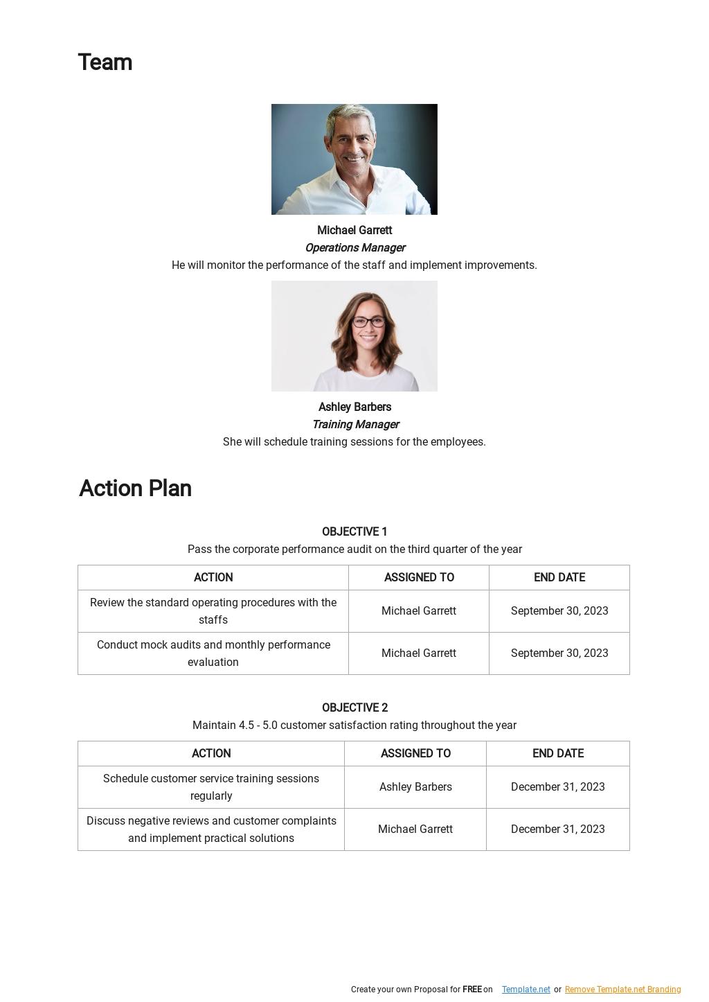 Customer Service Performance Improvement Plan Template 2.jpe