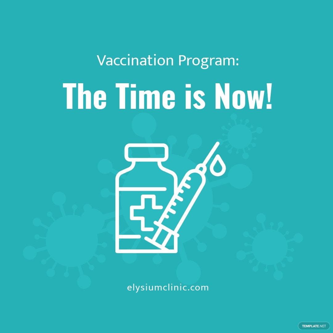 Time To Vaccinate Instagram Post Template.jpe