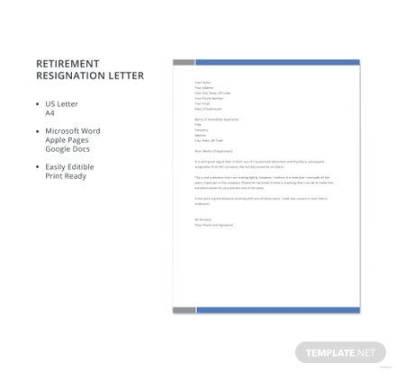 Free retirement resignation letter template in microsoft word apple free retirement resignation letter template spiritdancerdesigns Gallery