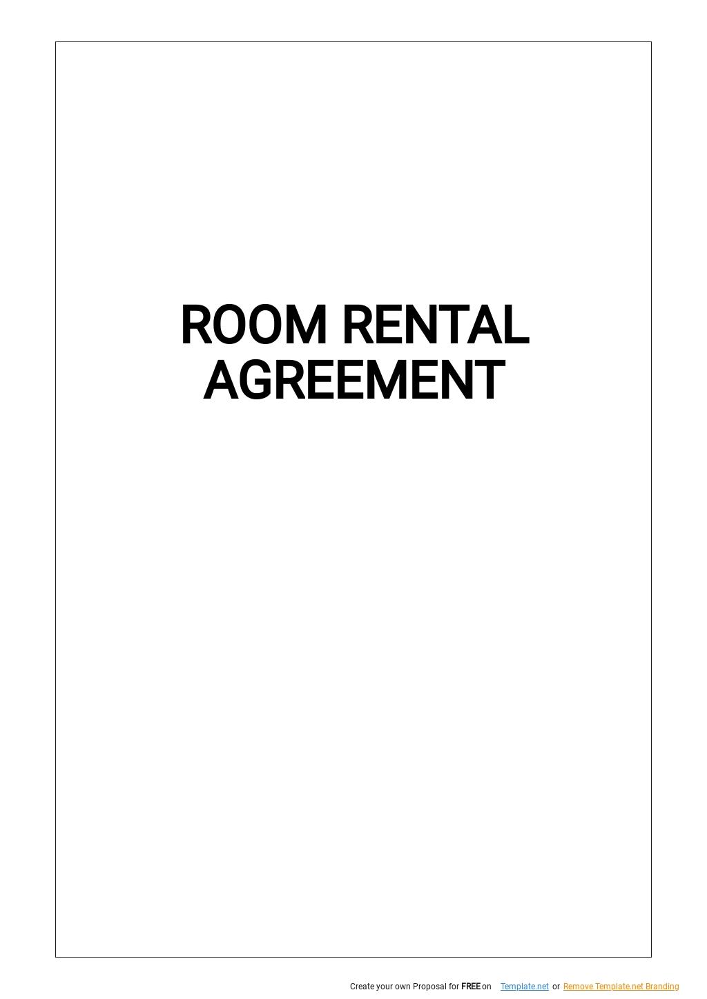 Simple Room Rental Agreement Template.jpe