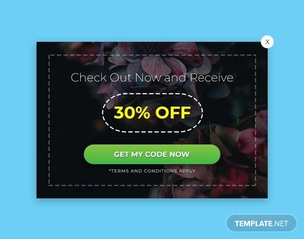 Free Website Coupon Pop-up Template