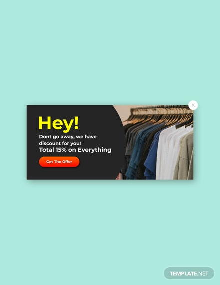 Free Website Exit Pop-up Template
