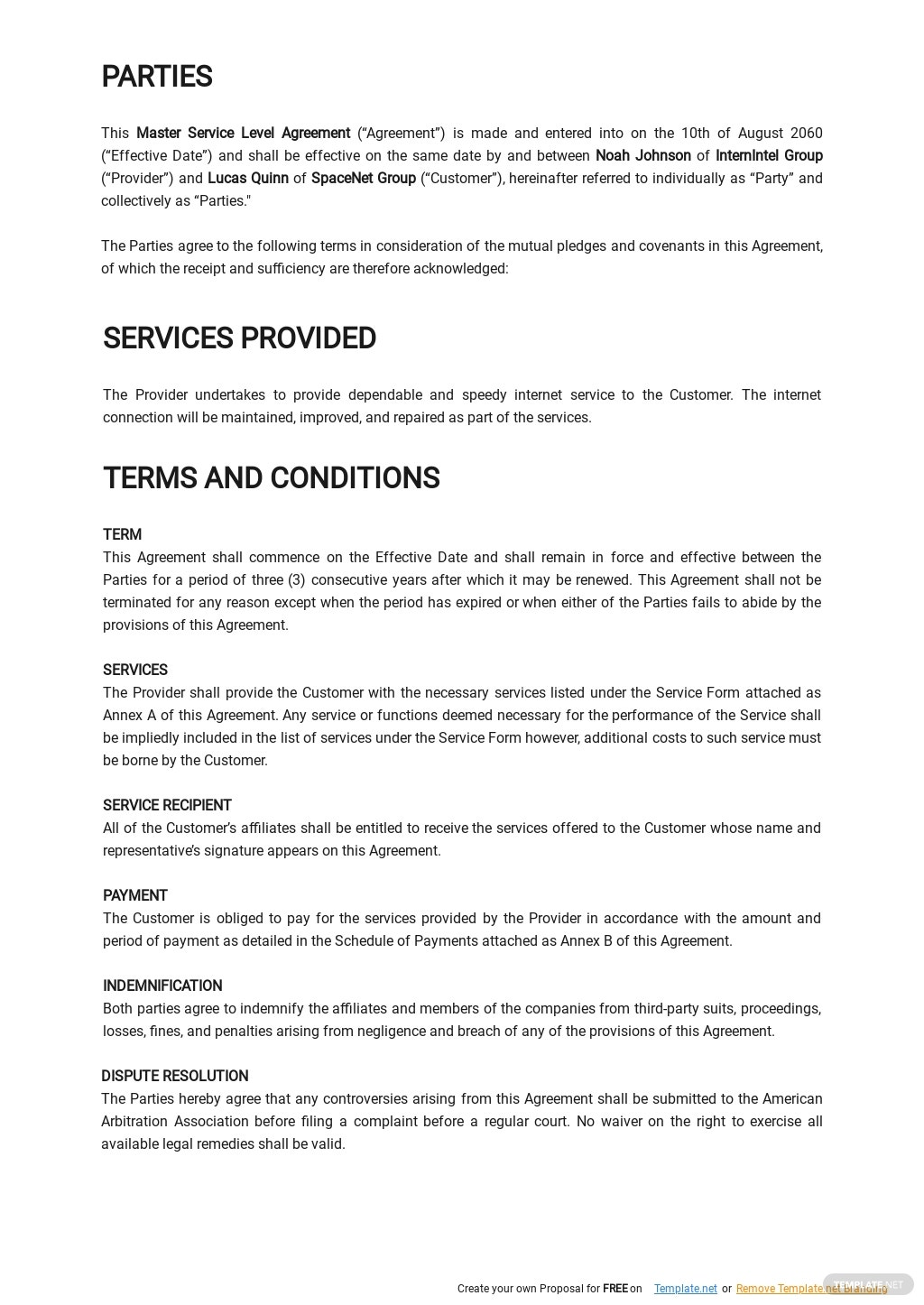 Master Service Level Agreement Template  1.jpe