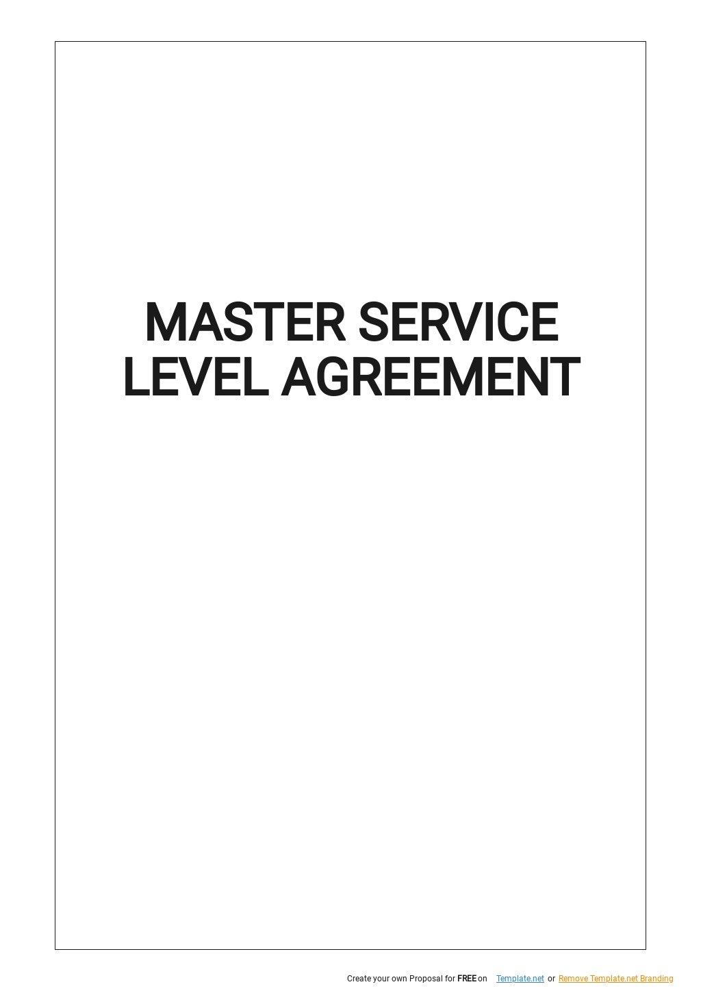 Master Service Level Agreement Template .jpe