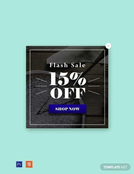 Free Website Flash Sale Pop-up Template