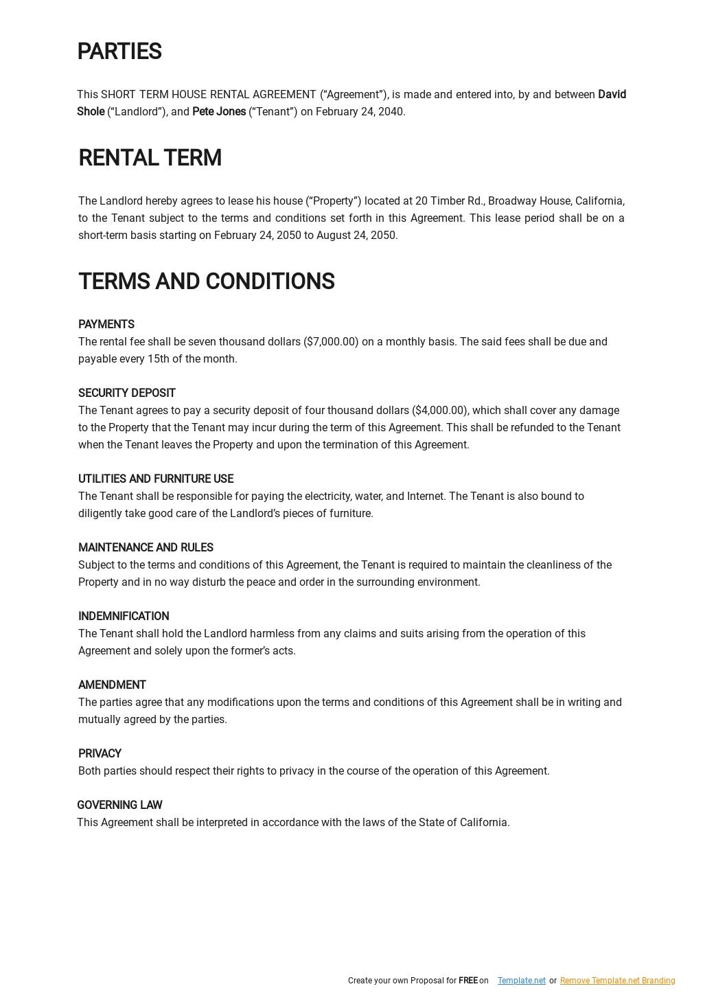 Short Term House Rental Agreement Template 1.jpe