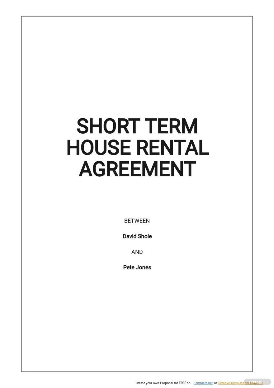 Short Term House Rental Agreement Template.jpe