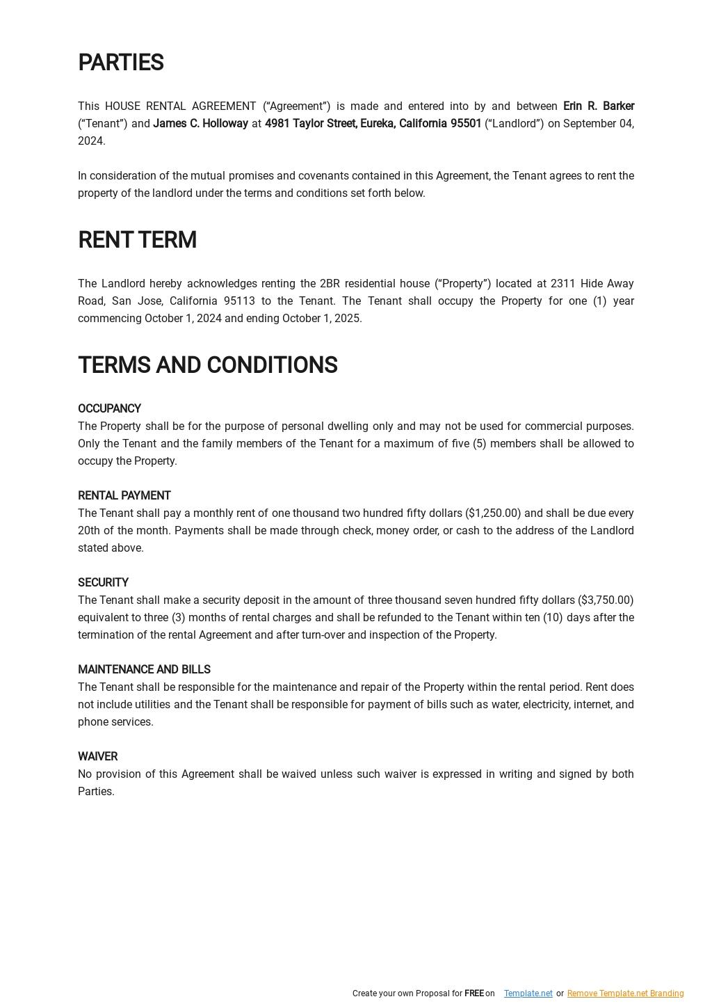 Simple House Rental Agreement Template 1.jpe