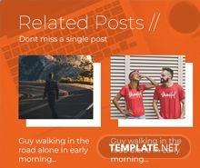 Free Website Related Posts Pop-up Template