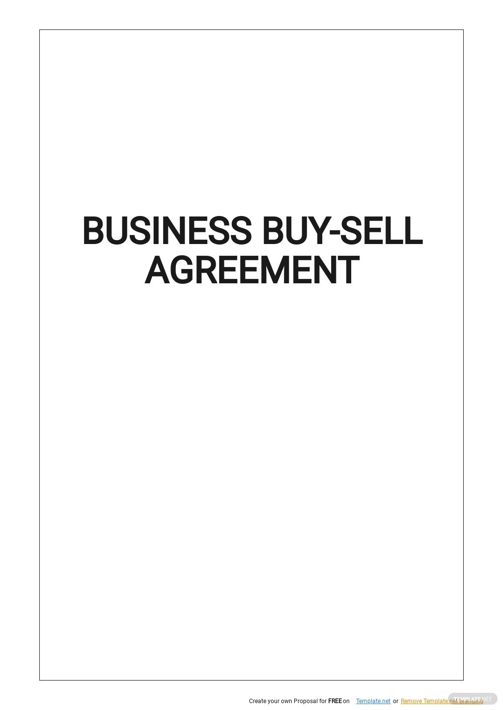 Business Buy Sell Agreement Template.jpe