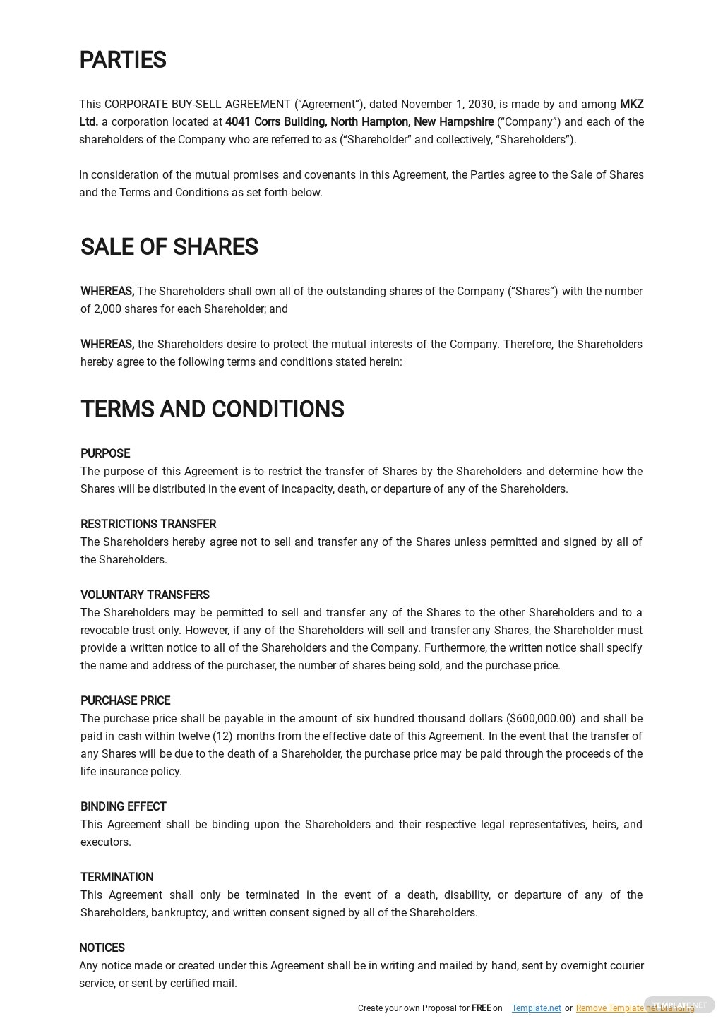 Corporate Buy Sell Agreement Template 1.jpe