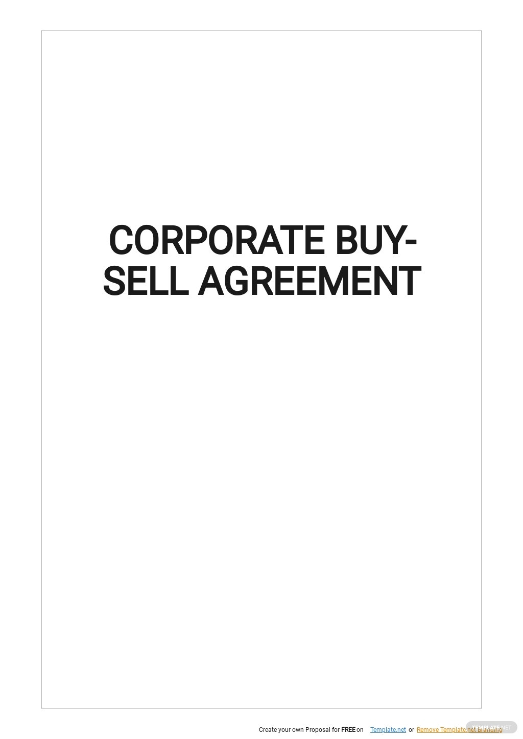 Corporate Buy Sell Agreement Template.jpe