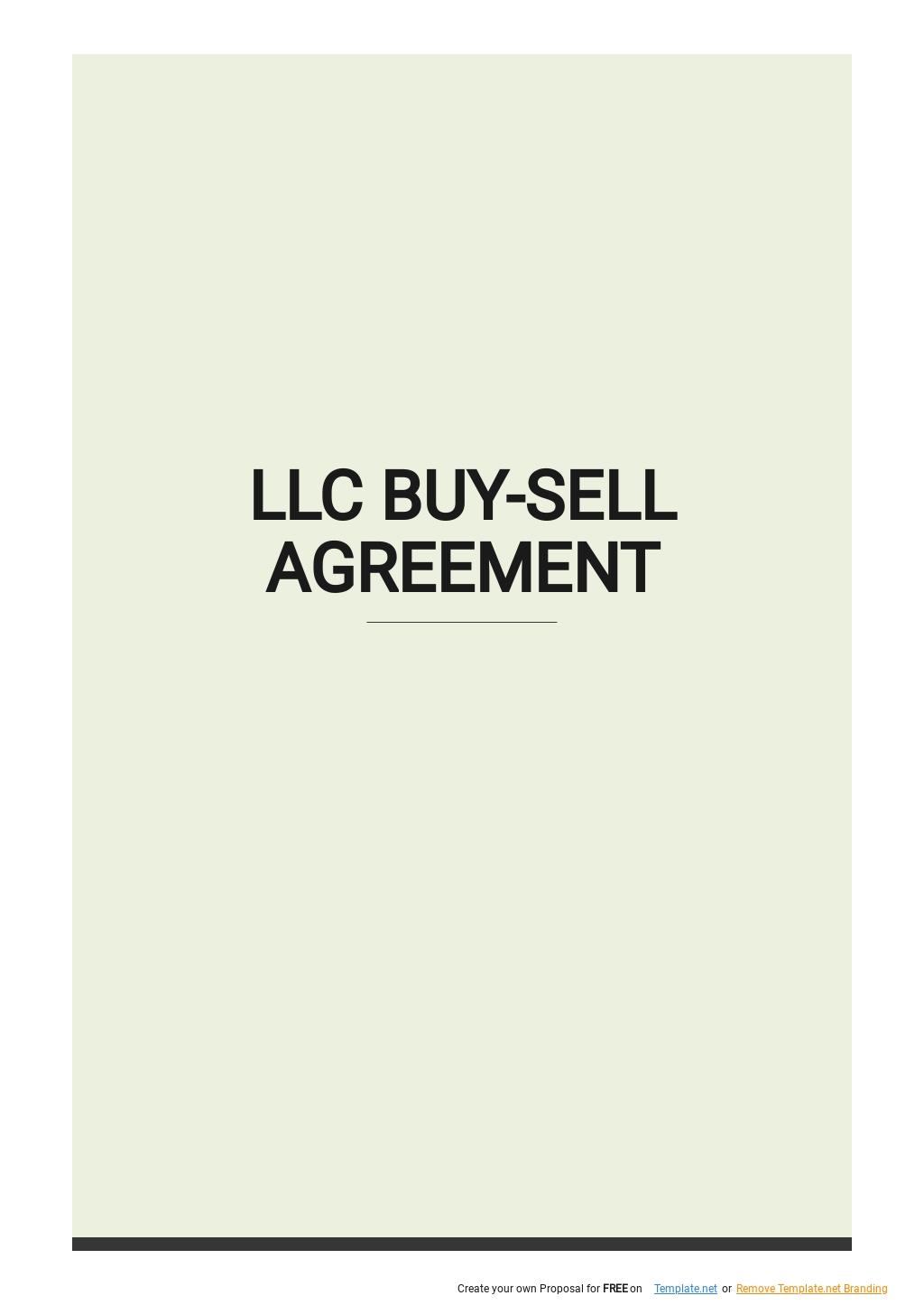 LLC Buy Sell Agreement Template.jpe