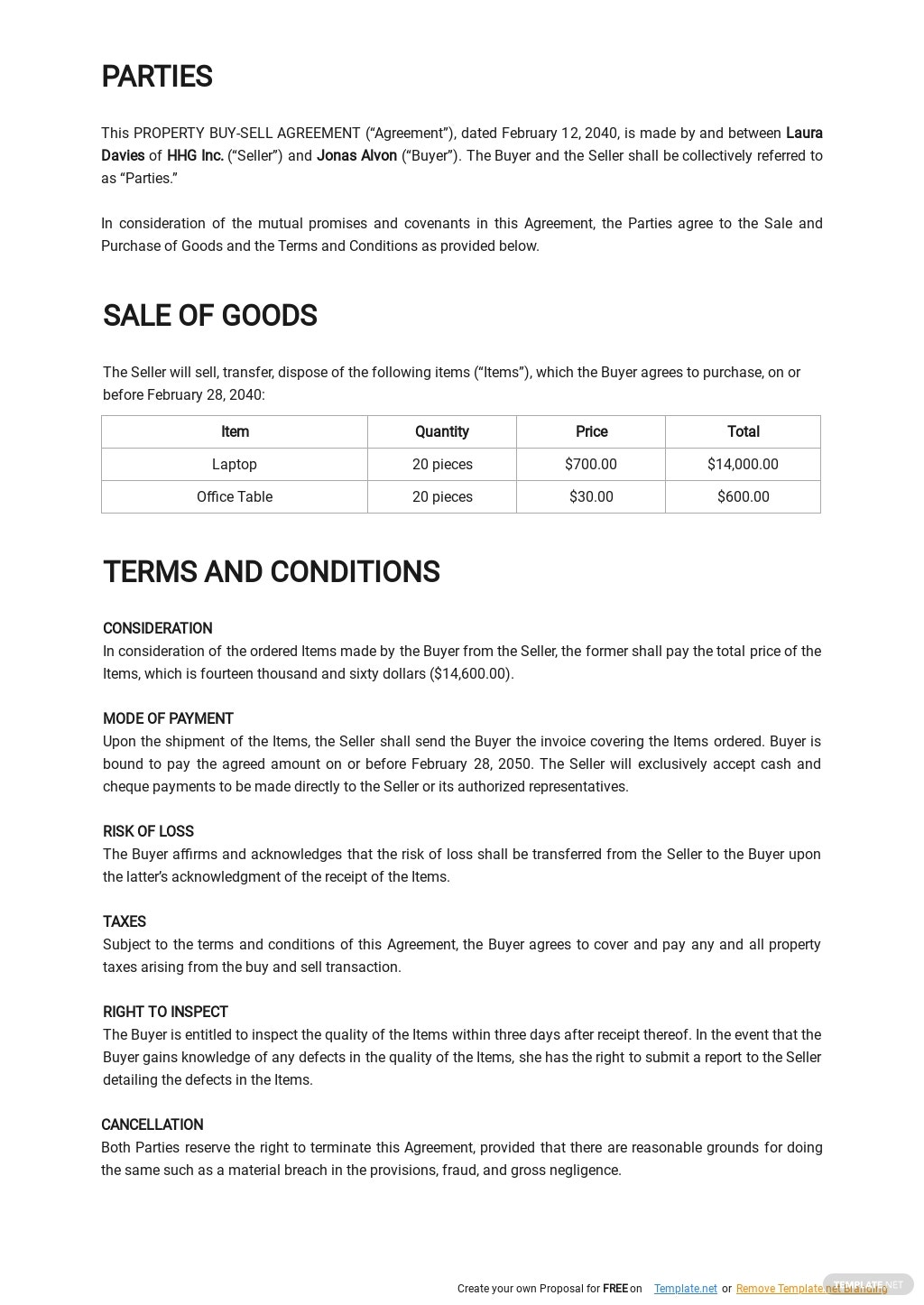 Property Buy Sell Agreement Template 1.jpe