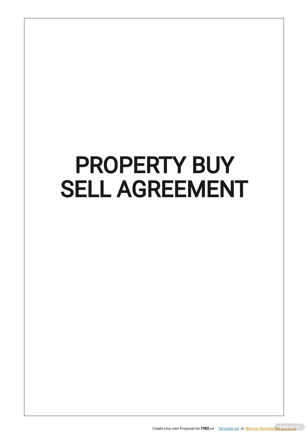 Property Buy Sell Agreement Template.jpe