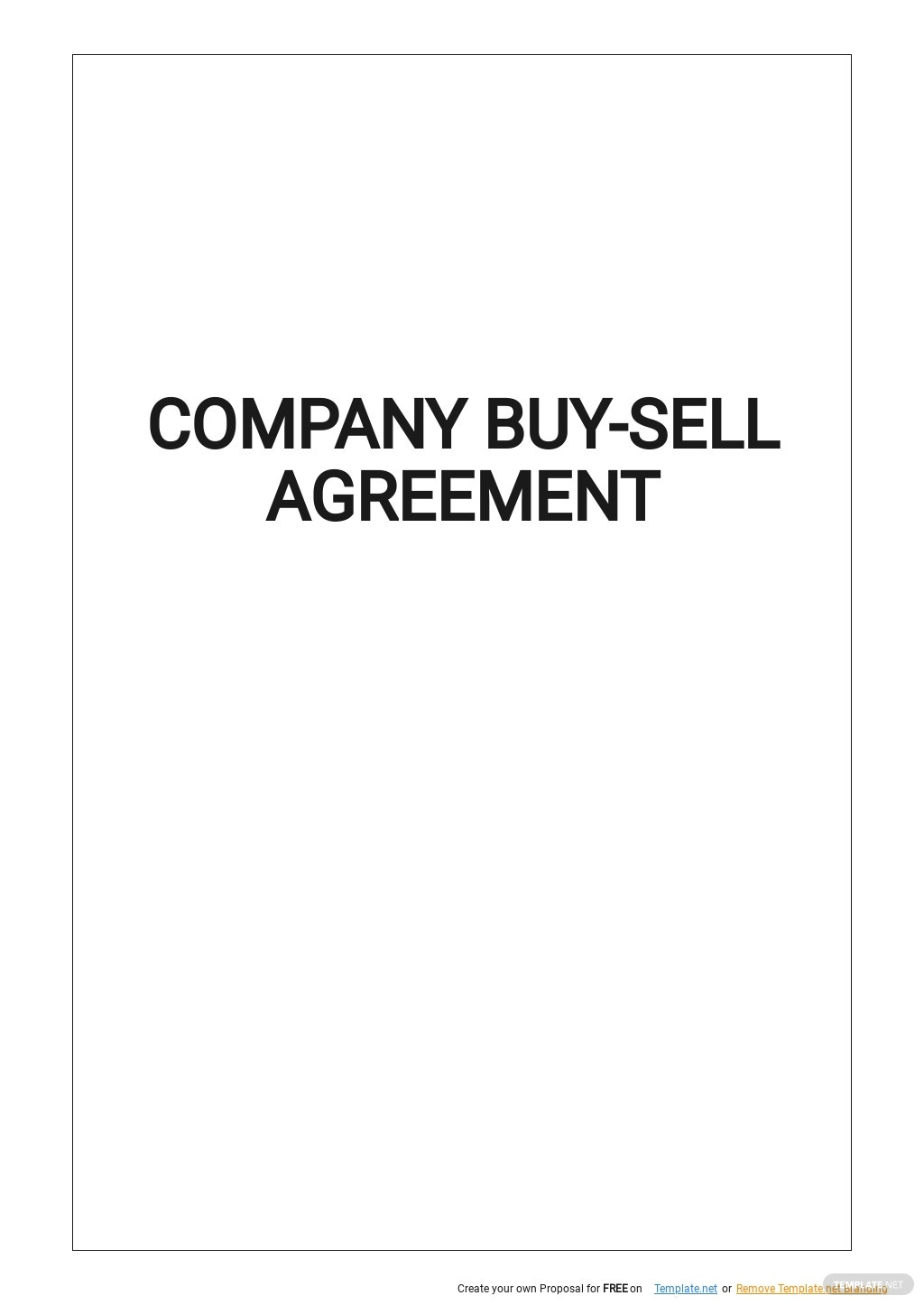 Company Buy Sell Agreement Template.jpe