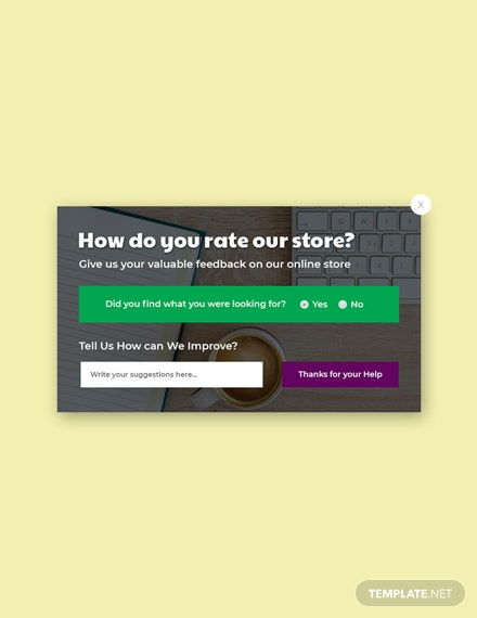 Free Website Survey Pop-up Template