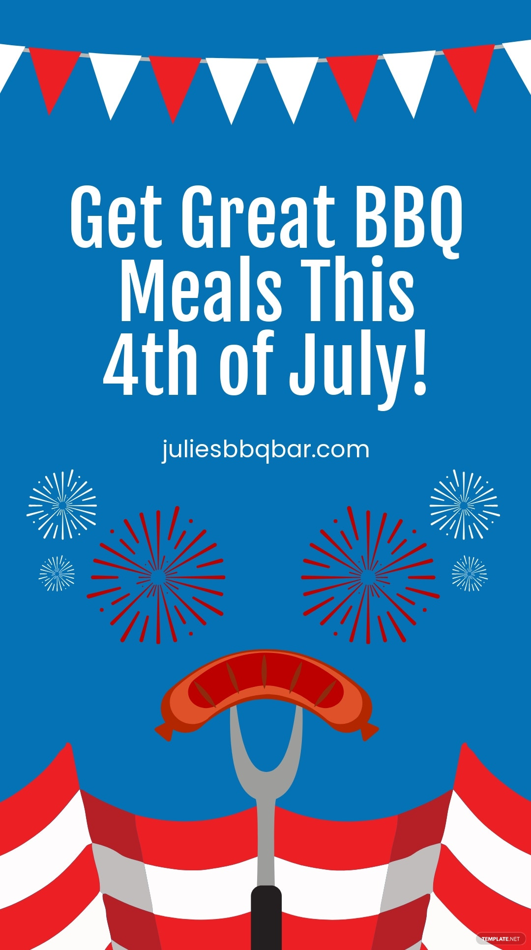 4th Of July Bbq Instagram Story Template.jpe