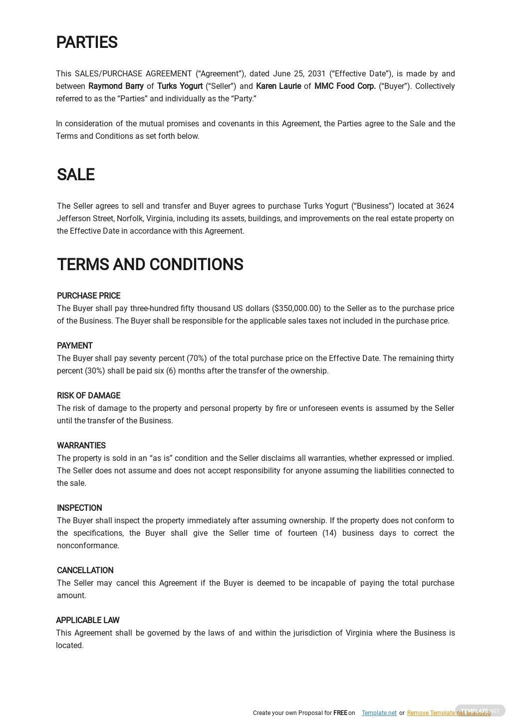 Simple Business Purchase Agreement Template 1.jpe