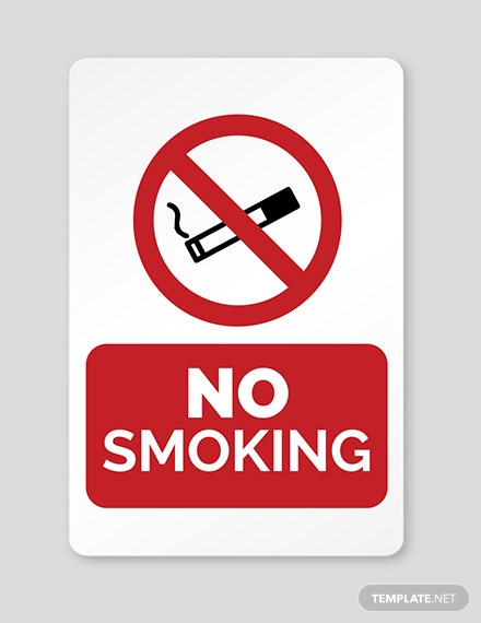 Free No Smoking Template