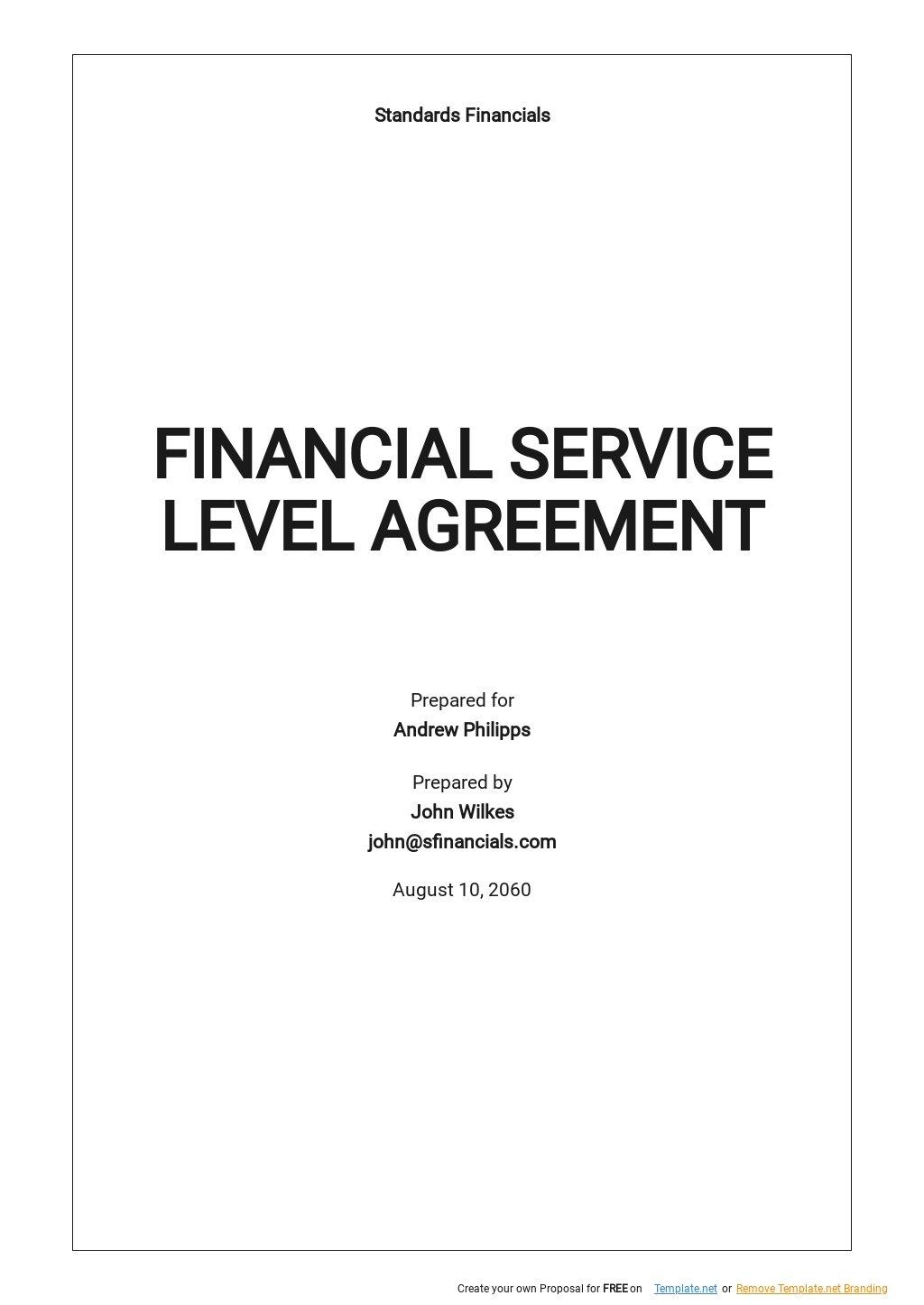 Financial Service Level Agreement Template .jpe