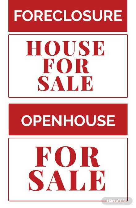 Free Real Estate Sign Template