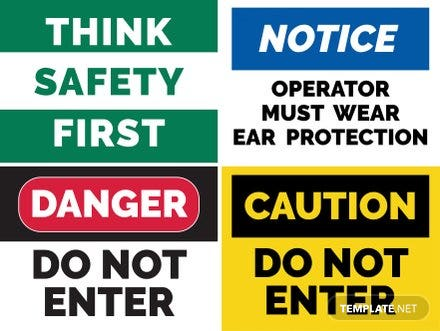 Free Safety Sign Template