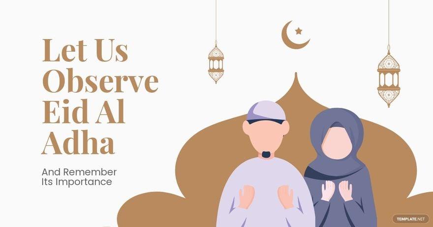 Eid Al Adha Mubarak Facebook Post Template.jpe