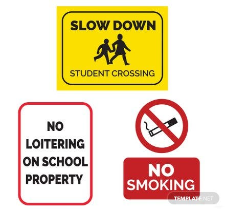 Free School Sign Template