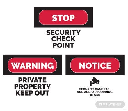 Free Security Sign Template