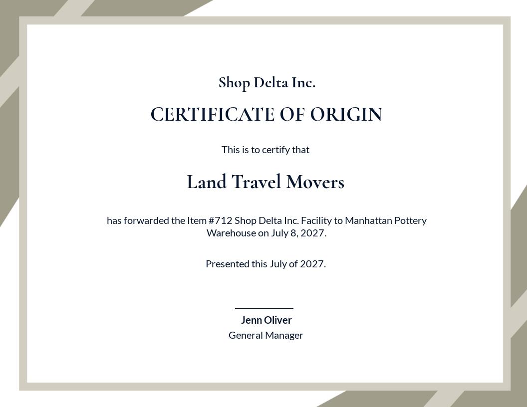 Free Certificate of Origin Template.jpe