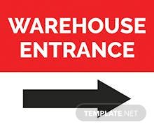 Free Warehouse Sign Template