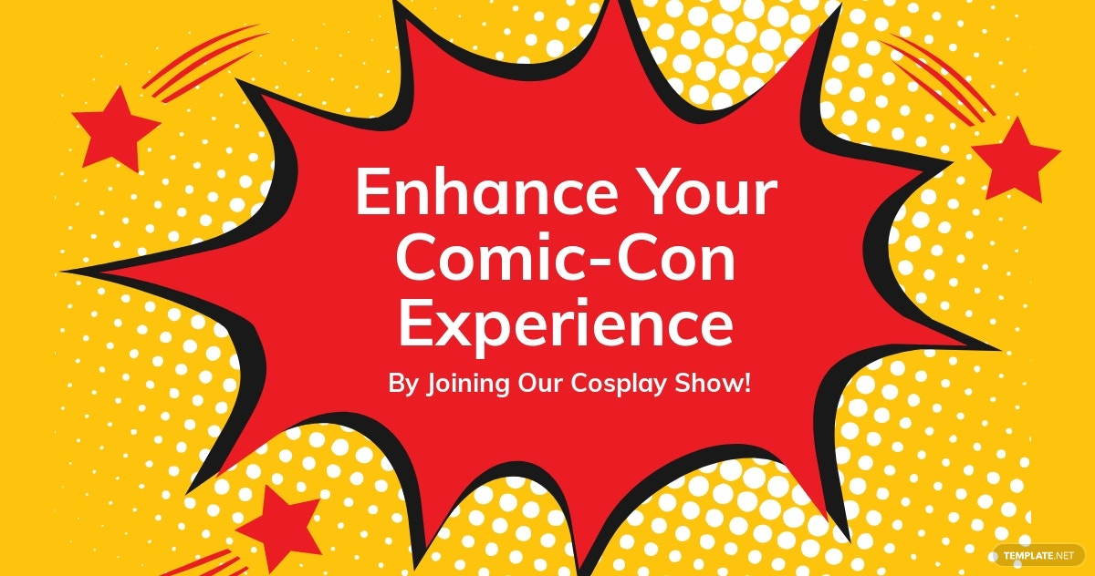 Comic Con Cosplay Show Facebook Post Template.jpe
