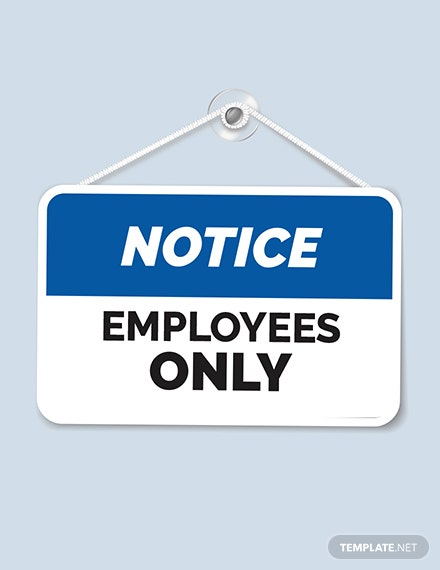 Free Workplace Sign Template